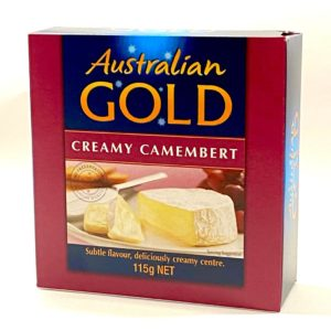 Cheese - Camembert Creamy by Australian Gold Cheese in Tasmania 115g