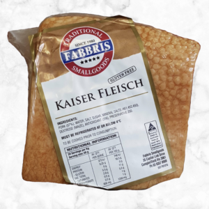 "Bacon - Kaiser Fleisch ""100% Prime Quality Pork Belly subtly cured and smoked Ready To Be Cooked"" by Fabbris"