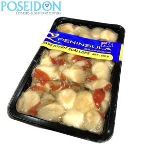 FRESH FISH - Scallops from Bass Strait. Snap Frozen 500g (order by 11.59pm for next day delivery)