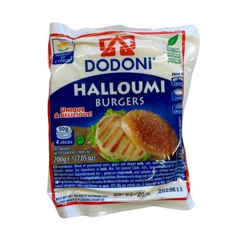 Cheese - Halloumi Burgers by Dodoni - 200g (4 burger pkt)
