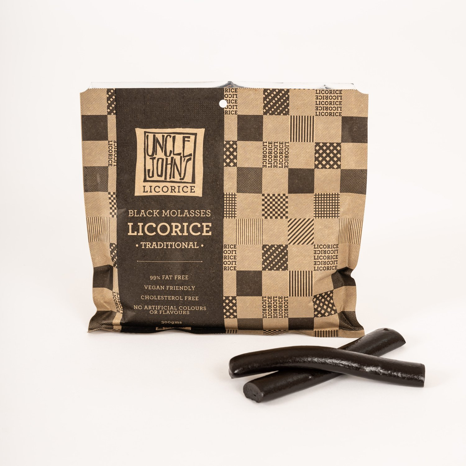 Black Molasses Licorice - Traditional (V) by Uncle John's