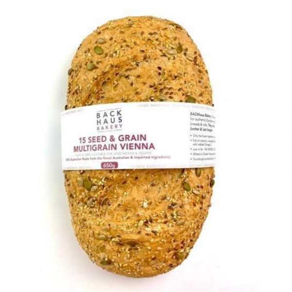 Bread - BACK HAUS BAKERY - 15 Seed & Grain Multigrain Vienna Loaf NEW LINE ***BAKED FRESH DAILY***